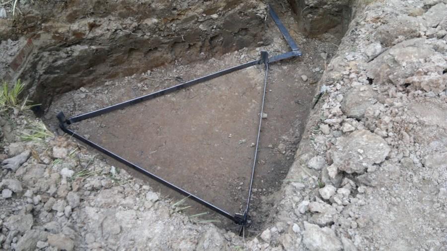 Контур заземления по схеме треугольник
