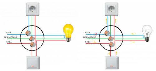 Схемы поясняющие наличие двух фаз в розетке