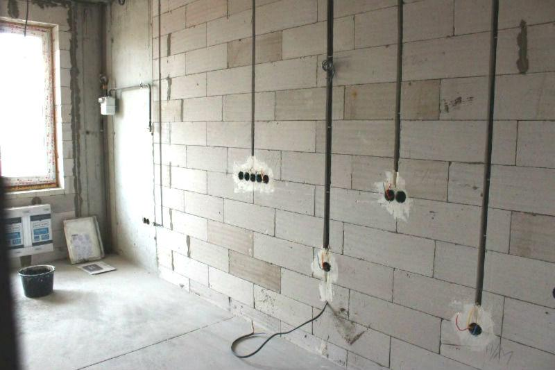 Электропроводка в штробах