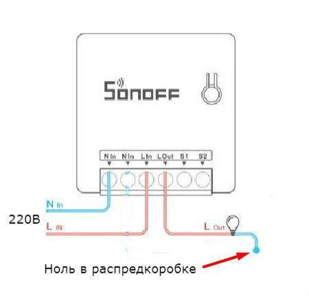 Схема Sonoff mini