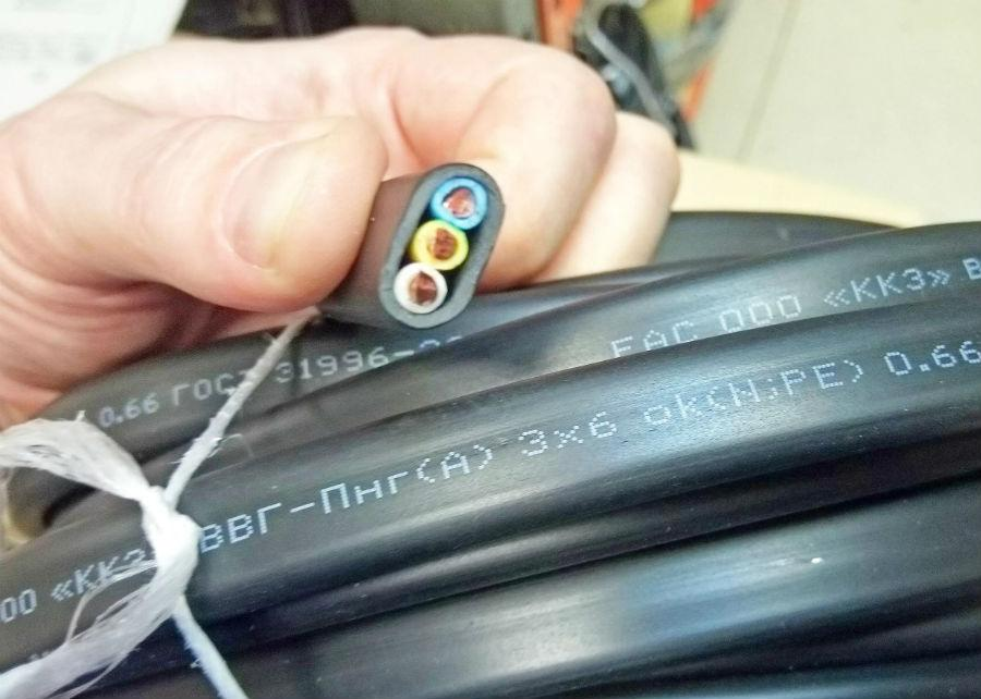 Вводной кабель ввг-пнг 3х6