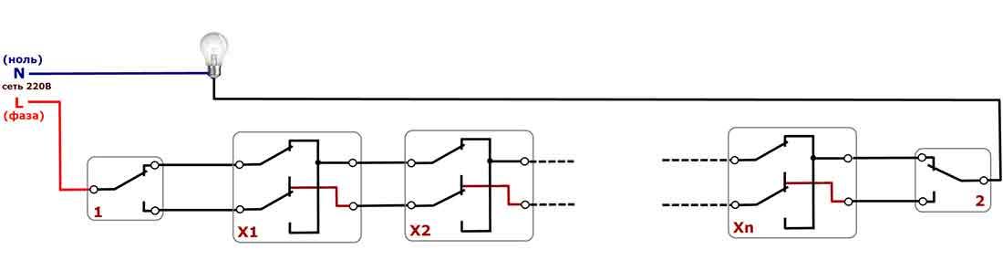 Как подключить проходной выключатель: схемы, инструкции, видео