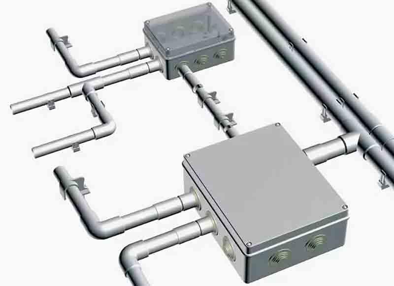 Электропроводка в трубах ПВХ